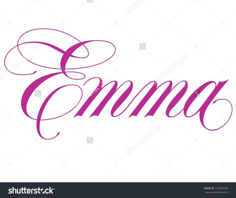 Girls Name Elegant Vector Lettering Series Stock Vector 122499100.
