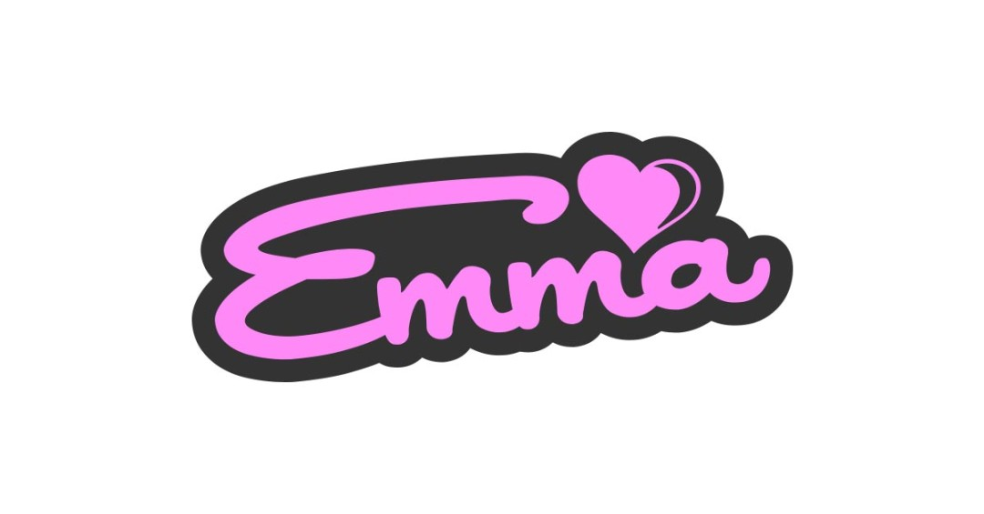 Emma Sweet Name Sign Vector and PNG.