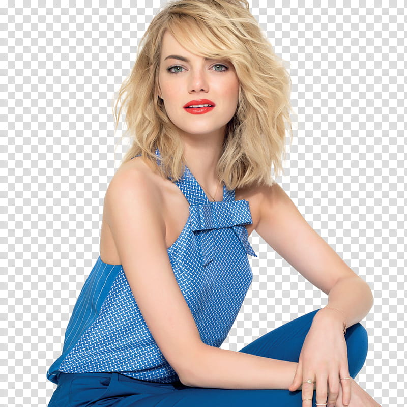 Emma Stone transparent background PNG clipart.