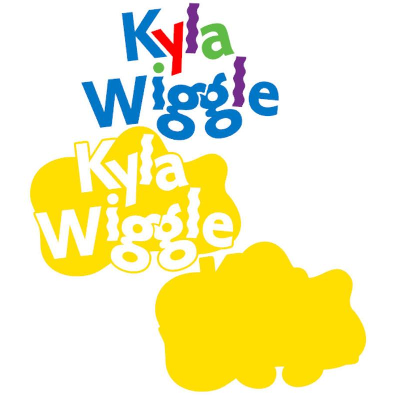 Kyla Wiggle SVG Custom Name Logo Emma Tshirt Clipart DXF Silhouette Cricut  Design Iron on Transfer Decal Vinyl Party Decorations Clipart.
