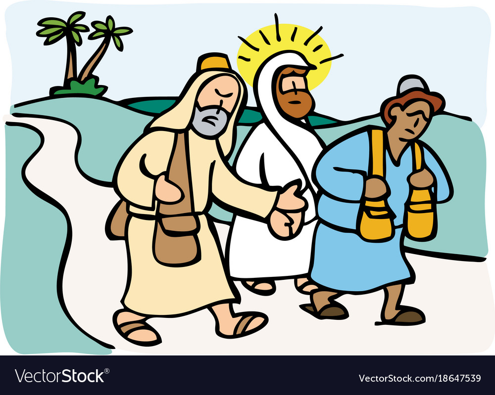 Jesus on the road to emmaus.