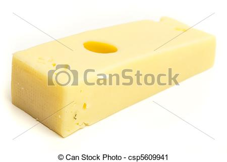 Clipart of emmental cheese isolated on a white background.