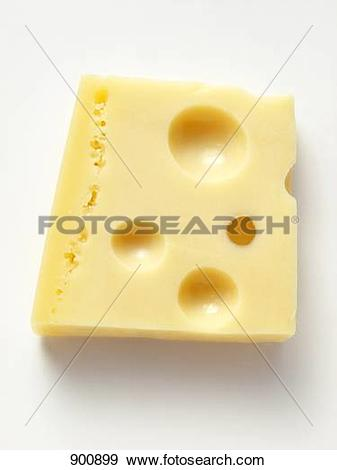 Stock Photograph of A piece of Emmental cheese 900899.