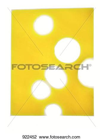 Stock Photo of A slice of Emmental cheese (1) 922452.