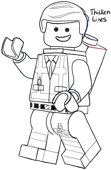 How to Draw Emmet from The Lego Movie and Lego Minifigures Drawing.