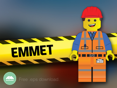 Emmet Lego Movie Free Vector by Allan McAvoy.
