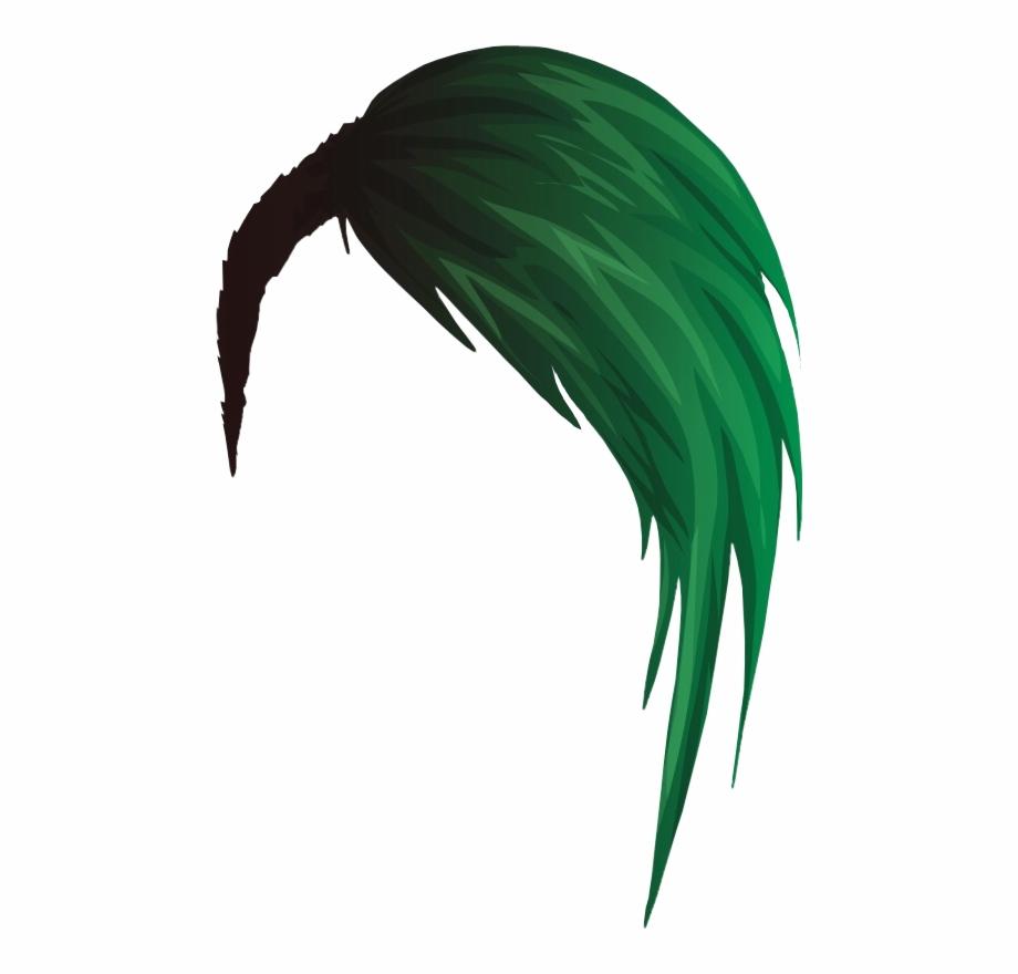 Green Emo Hair.