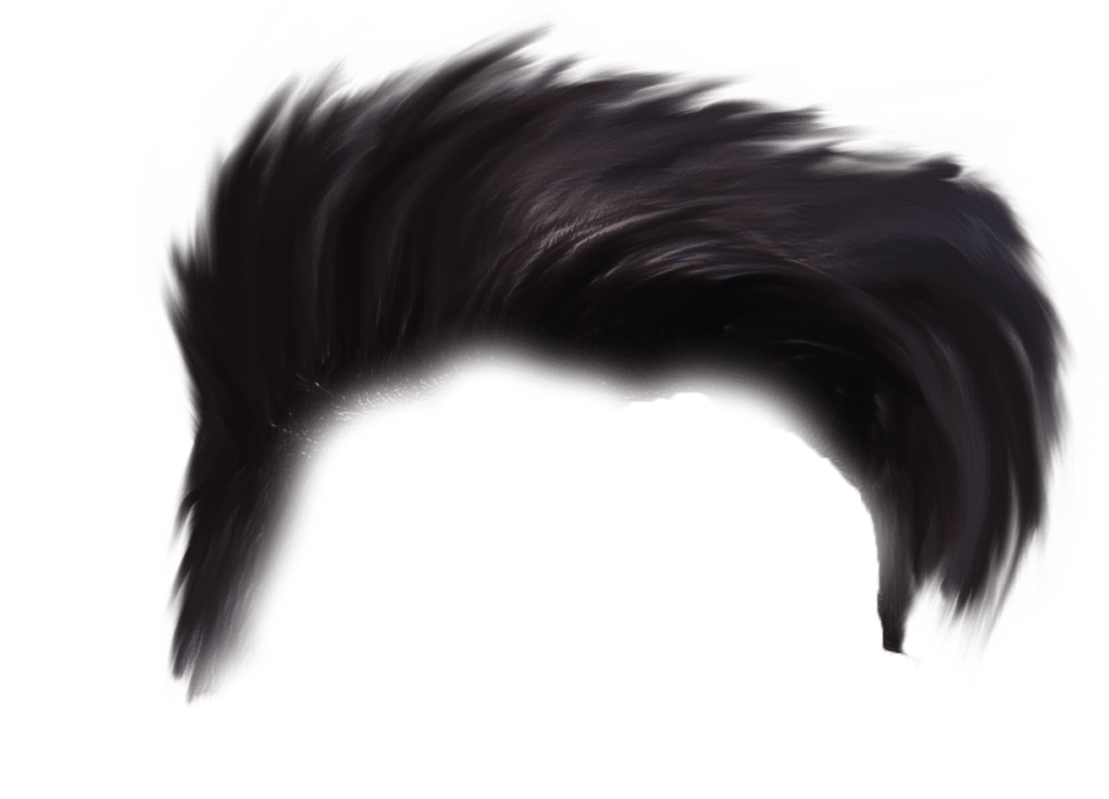 Emo Hair PNG Picture.
