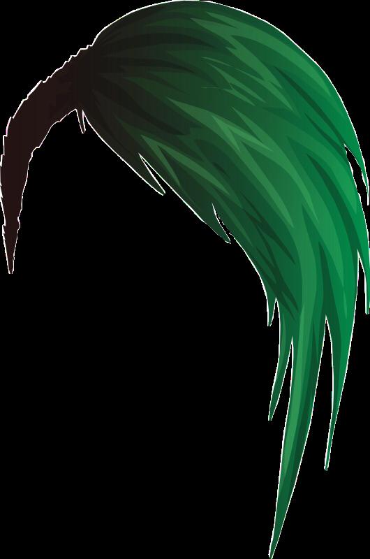 HD Green Emo Hair.