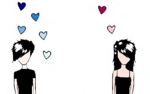 Emo love clipart.