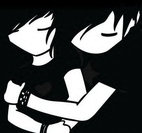 Emo lovers clipart.