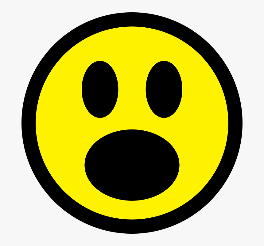 Smiley, Emoticon, Astonished, Face, Icon, Good, Sign.