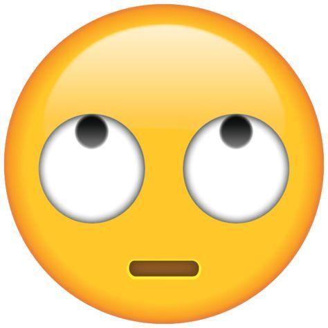 Eye Roll Emoji.