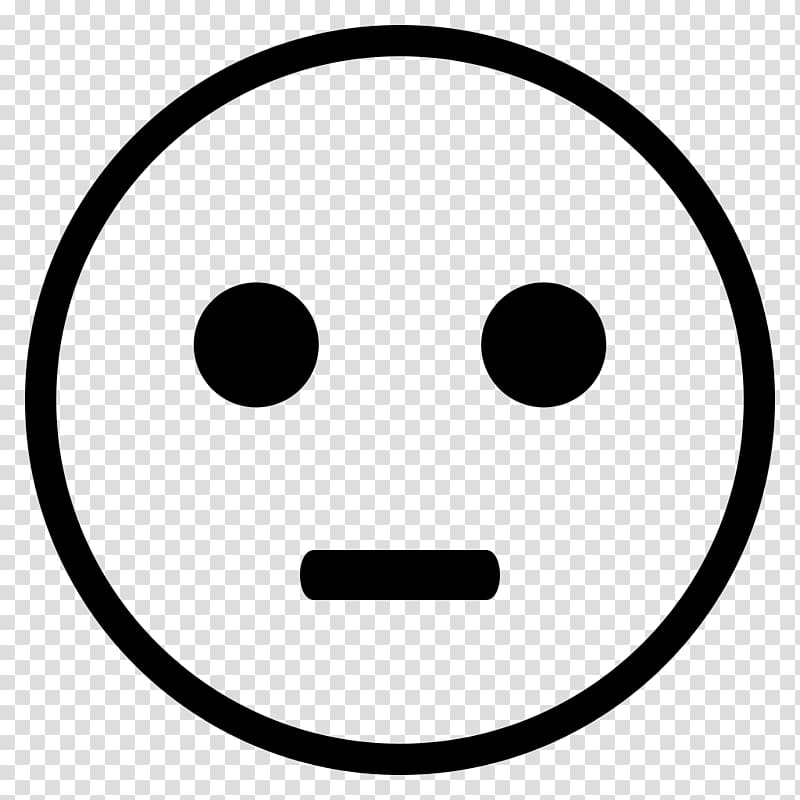 Smiley Emoticon Emoji Black and white , smiley transparent.