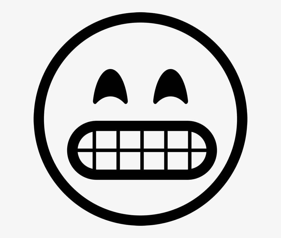 Smiley Emoji Black And White Png #818036.