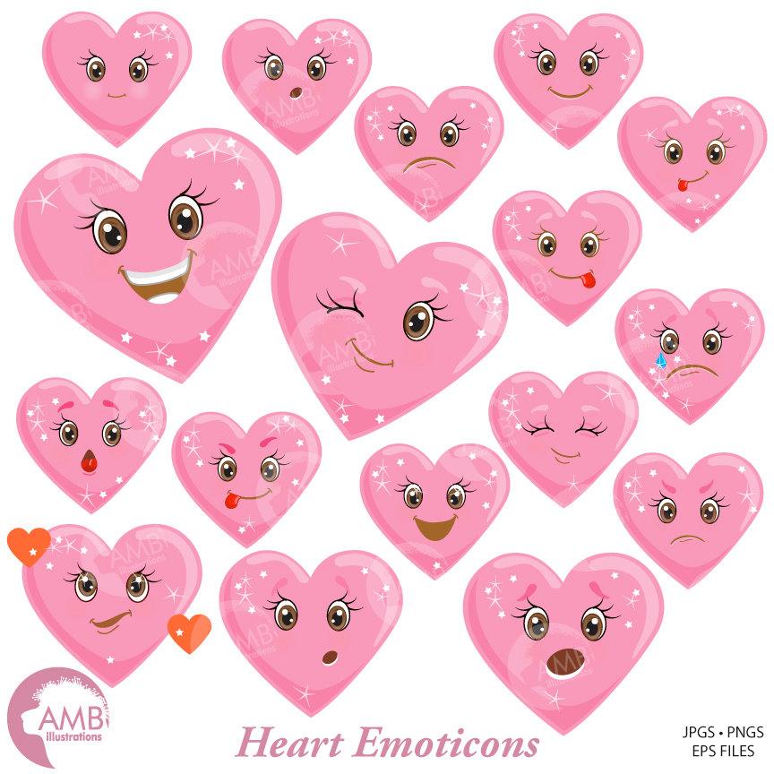 Valentine clipart, Heart face, Feelings Clipart, Emoji Clip Art, Emoji  Clipart, AMB.