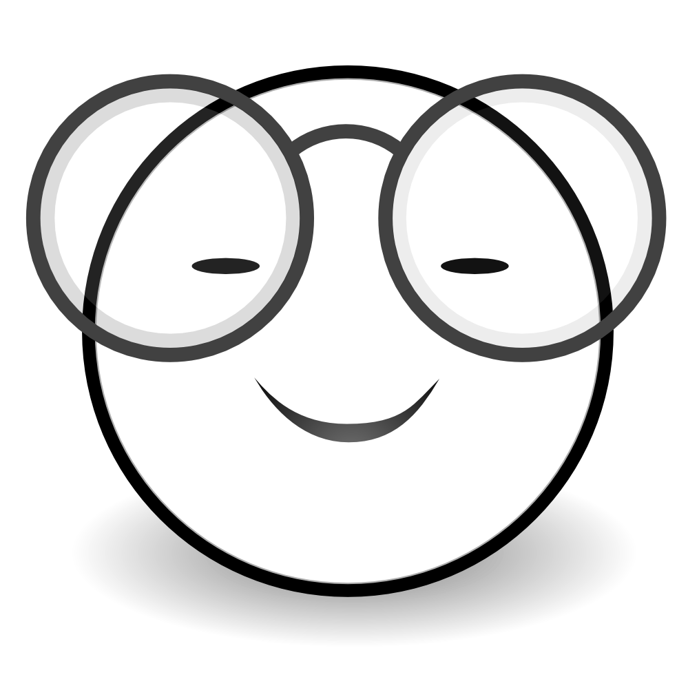 Smiley Face Clip Art Black And White.