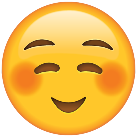 download shyly smiling face emoji Icon.