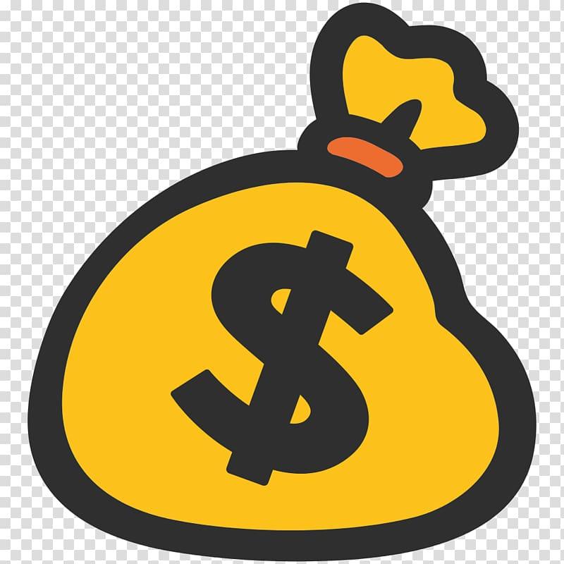 Dollar pack , Money Bag Emoji transparent background PNG.