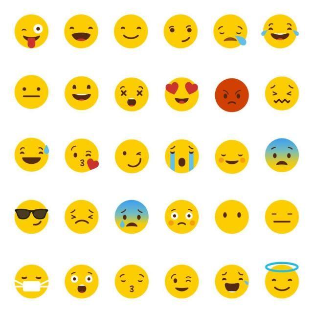 Set Of Emojis Vector, Emoji, Set, Emoticon PNG and Vector.