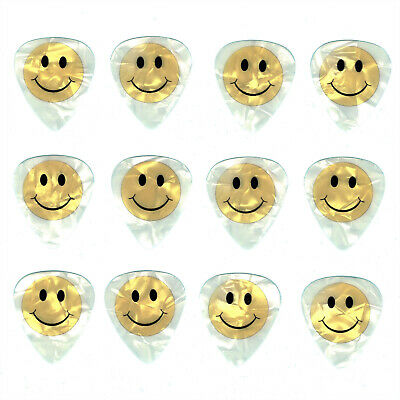 12 Pack SMILEY HAPPY Great Mood EMOJI Face High Quality Guitar Picks.