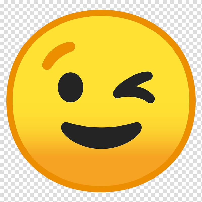 Emoji Smiley Wink Emoticon, Emoji transparent background PNG.