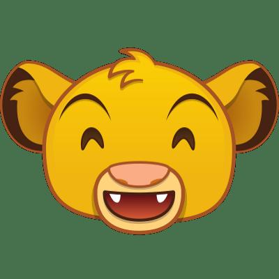 Lion King Grin Emoji transparent PNG.