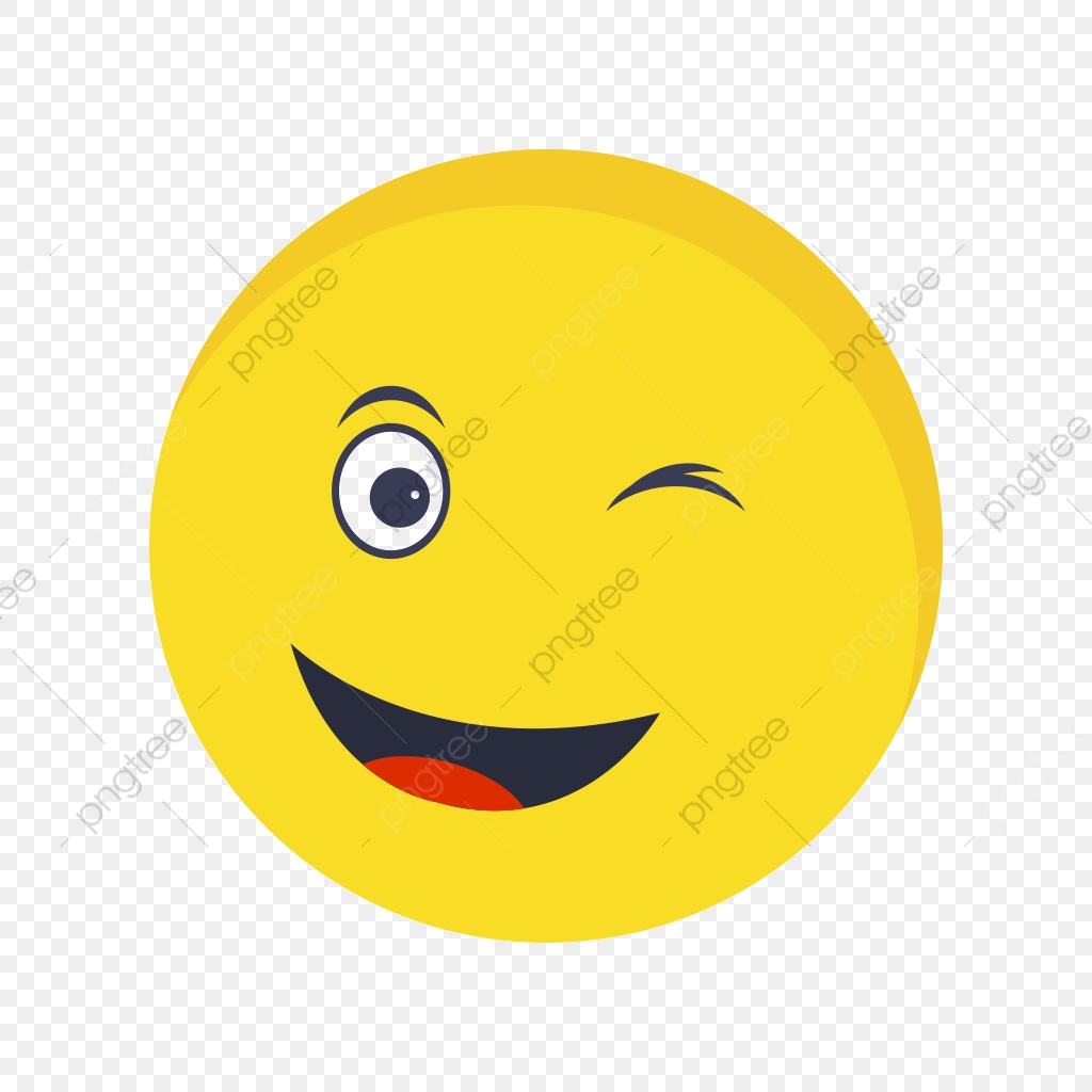 Wink Emoji Vector Icon, Wink, Emoji, Emoticon PNG and Vector with.