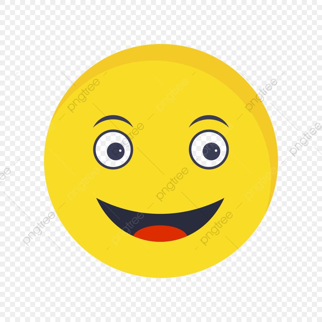 Happy Emoji Vector Icon, Happy, Emoji, Emoticon PNG and Vector with.