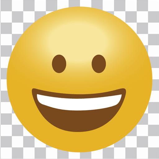 Happy emoji emoticon.