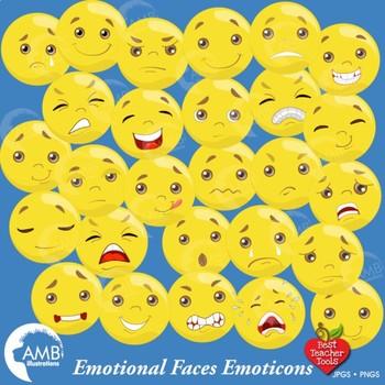 Emoticons Clipart, Emoji Clipart, Feelings Clipart, AMB.