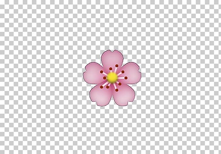 IPhone Emoji Flower Emoticon, peach blossom, pink petaled.