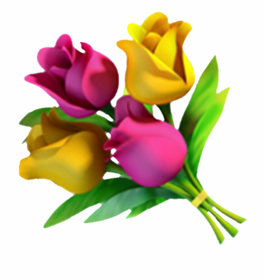 Emoji Fleur Flower Flora Rose Jaune Yellow , Png Download.