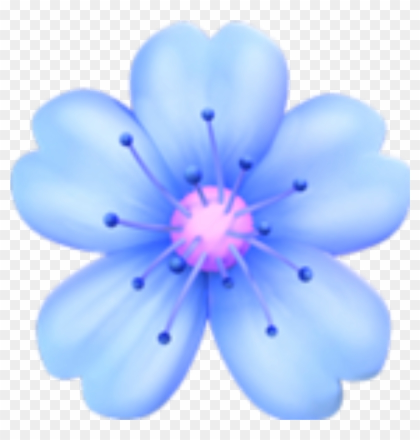 Flowers Blue Emoji Tumblr Sticker Png Flower Tumblr.