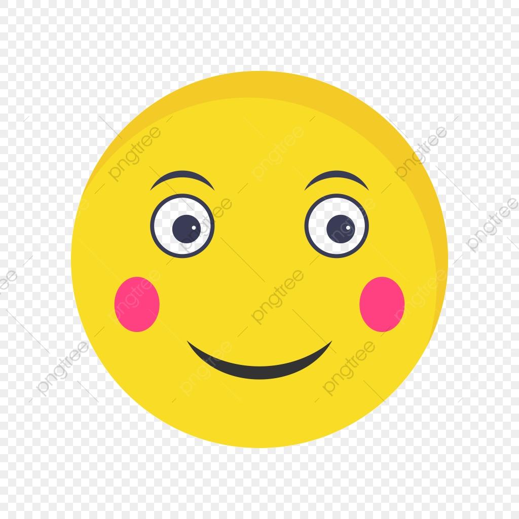 Blush Emoji Vector Icon, Emoticon, Emoji, Smiley PNG and Vector with.