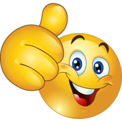 Emoticon Thumb Up transparent PNG.