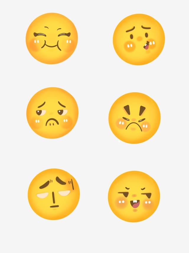 Cartoon Variant Emoji Smiley Angry Expression Pack Cute, Emoji.