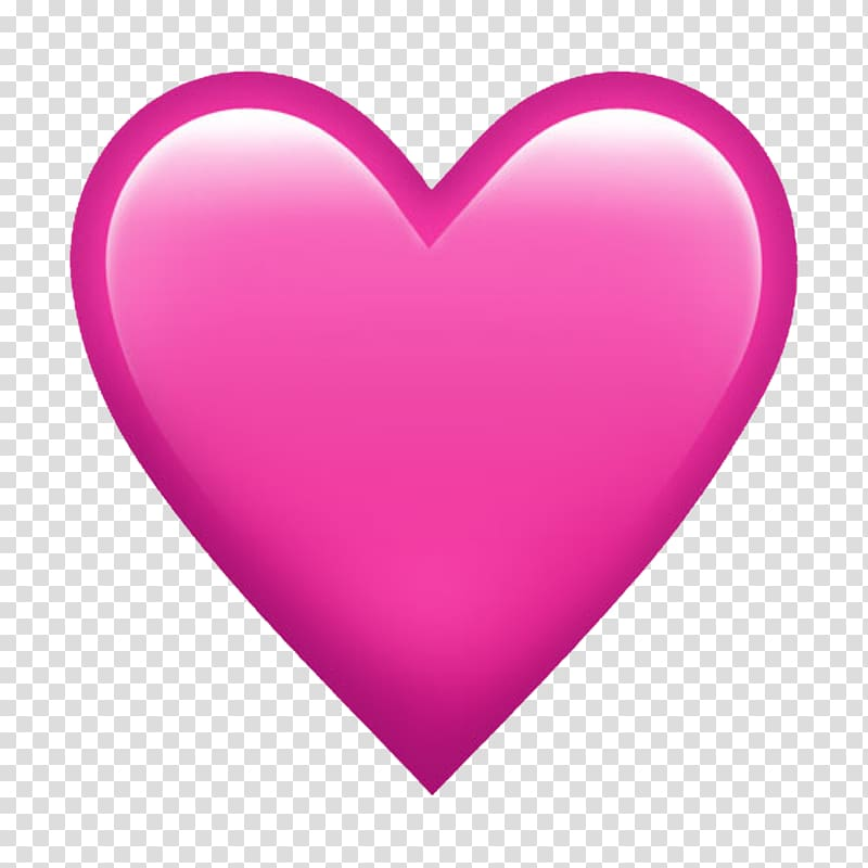 Pink heart , Emoji Heart Love Symbol, snapchat transparent.