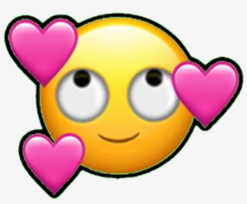 Emoji Emoticon Falling In Love Smiley.