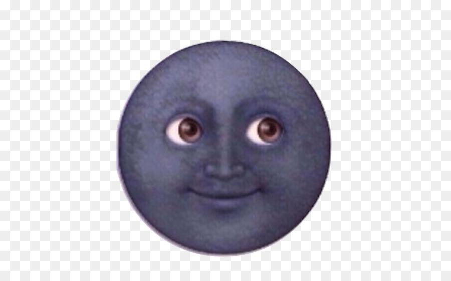 Black Moon Emoji clipart.