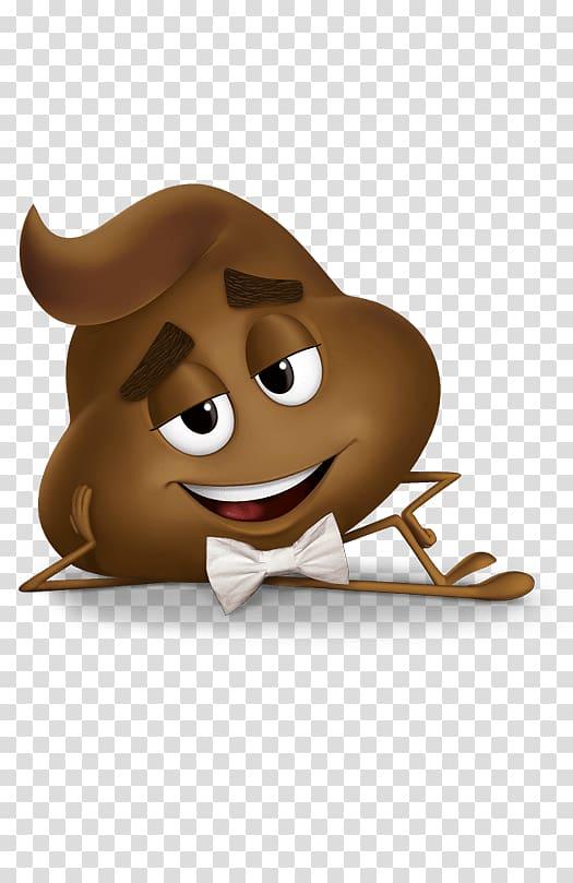 Brown character illustration, Poo Emoji Movie Character transparent.