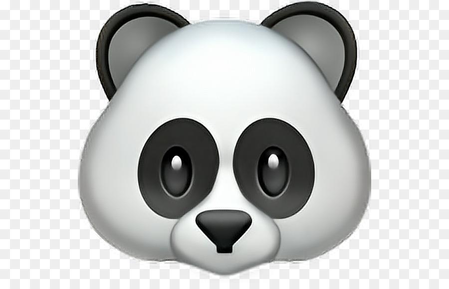 Panda Emoji clipart.