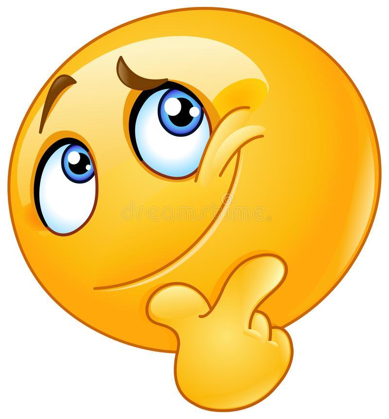 Thinking Clipart Emoji.
