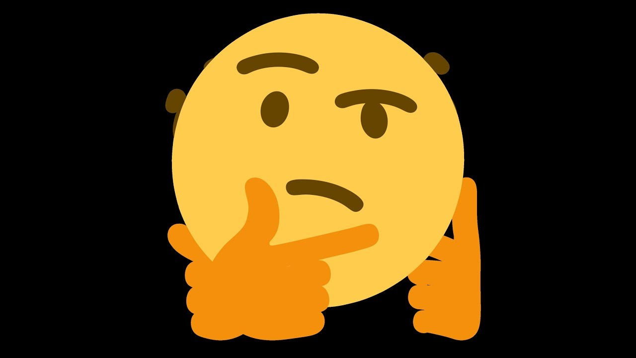 Emoji Pensativo Full HD.