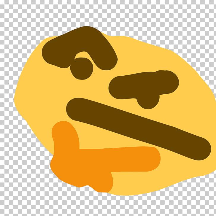 Emoji Thought Emoticon Sticker Slack, Emoji PNG clipart.