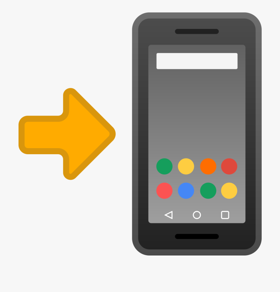 Mobile With Arrow Icon Noto Emoji Objects Ⓒ.