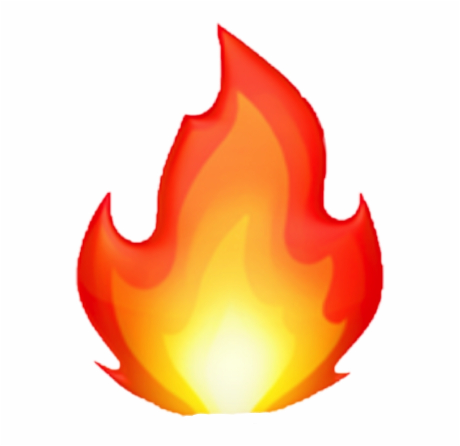 Fire Emoji Transparent Background.