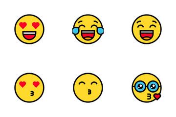 Emoticon Or Emoji Icon Pack.