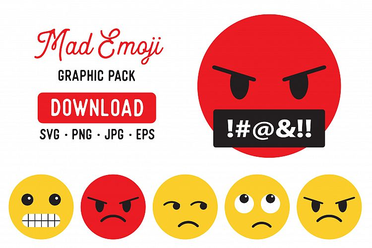 Angry Emoji PNG Clipart Pack.