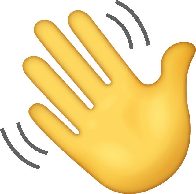 Waving Hand Emoji Png (+).